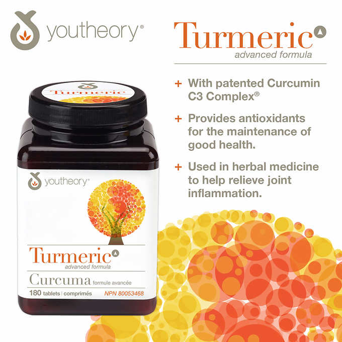 Costco] youtheory Turmeric Advanced 150 mg – 180 Tablets – Zallat