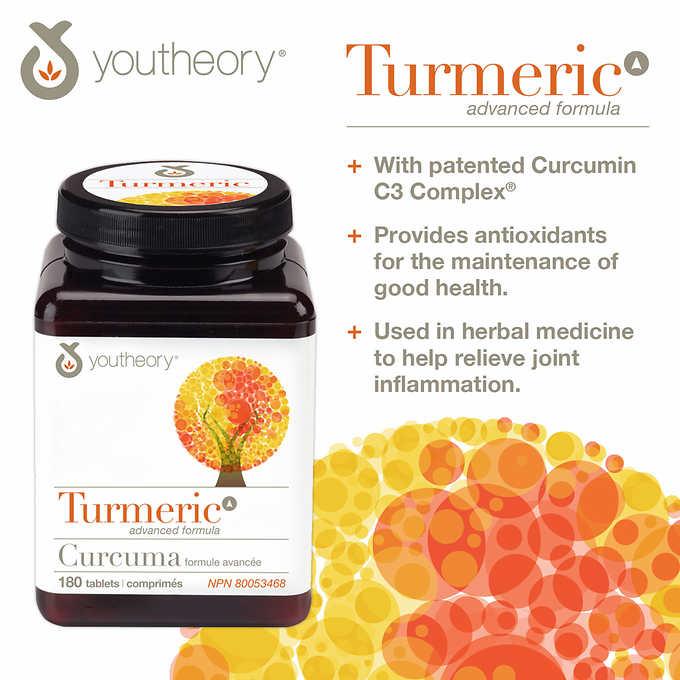 Costco] youtheory Turmeric Advanced 150 mg – 180 Tablets – Zallat